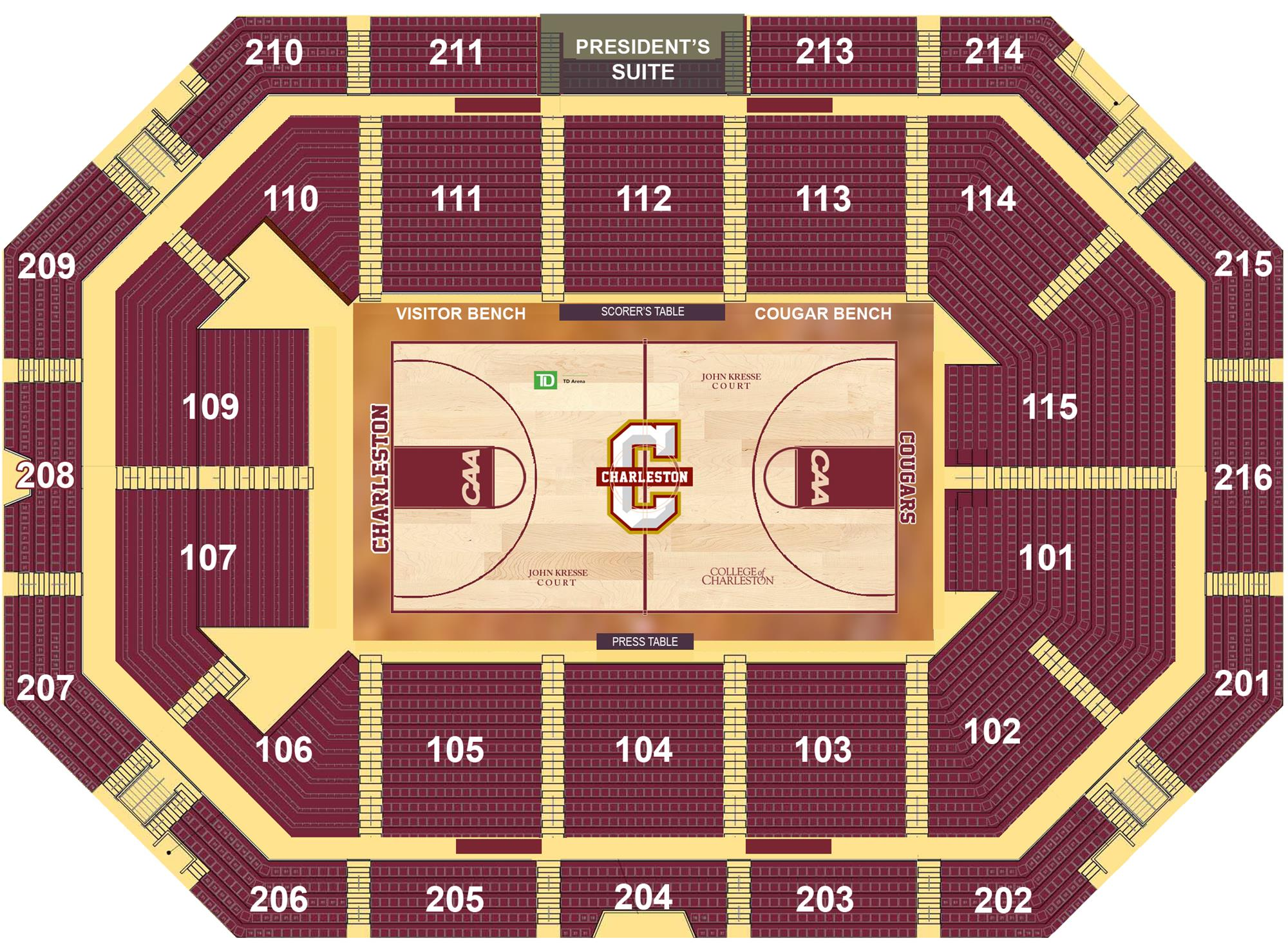 Td Arena College Of Charleston Athletics